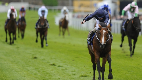 Ryan Moore riding Orchestra wins the Chester Vase at Chester