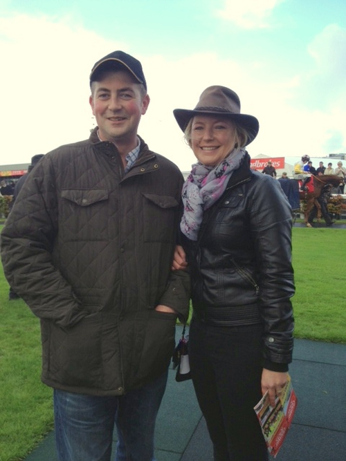 At the races - Ger and Maria at Galway Racecourse, September 2013