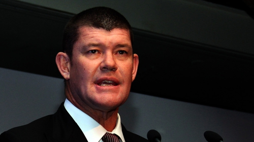 James Packer was angry that a TV news van was parked outside his house