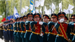 Thousands of servicemen take part in the annual Victory Day parade