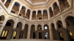 The interior of the Town Hall in the old part of Sarajevo