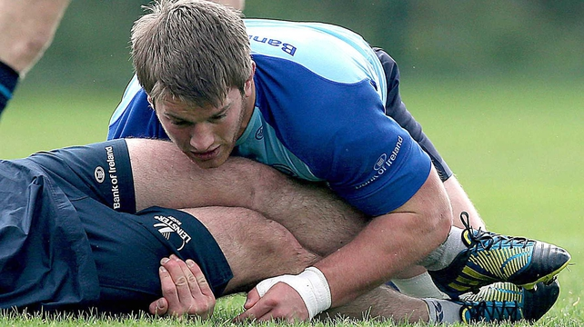 Sean O'Brien in training for Leinster during the week