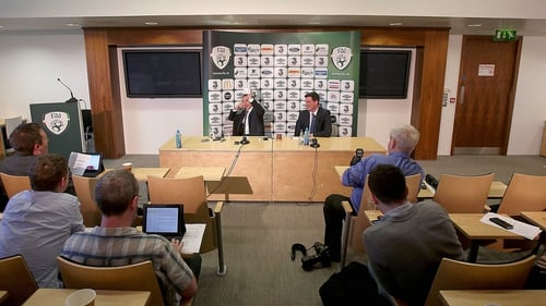 Martin O'Neill speaking to the media today