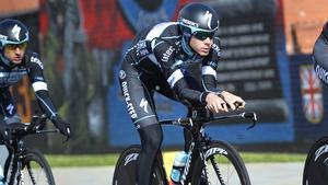 Team Sky's Philip Deignan during Friday's warm up for the Giro d'Italia