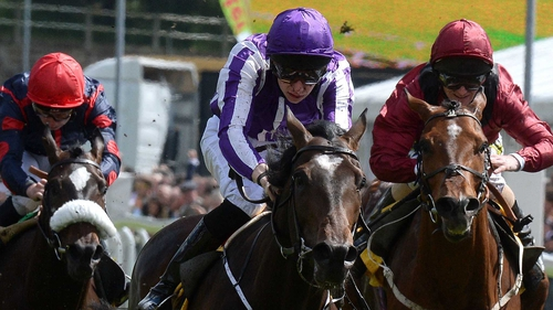 Kingfisher (c) ridden by Joseph O'Brien wins the The Betfair Cash Out Dee Stakes