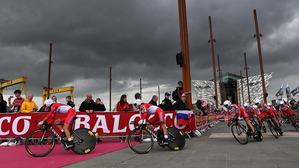 Ominous clouds as Team Katusha start their time trial