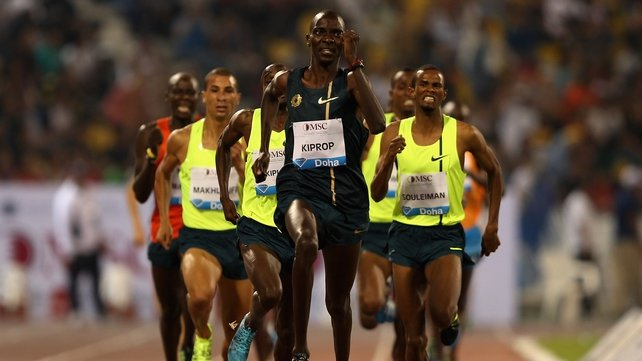 Asbel Kiprop was superb in winning the 1500m in Doha