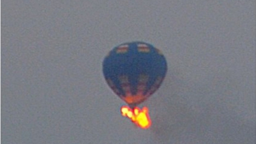 The hot air balloon caught fire during a festival in Virginia (Photo: kutzandphoto on Instagram)