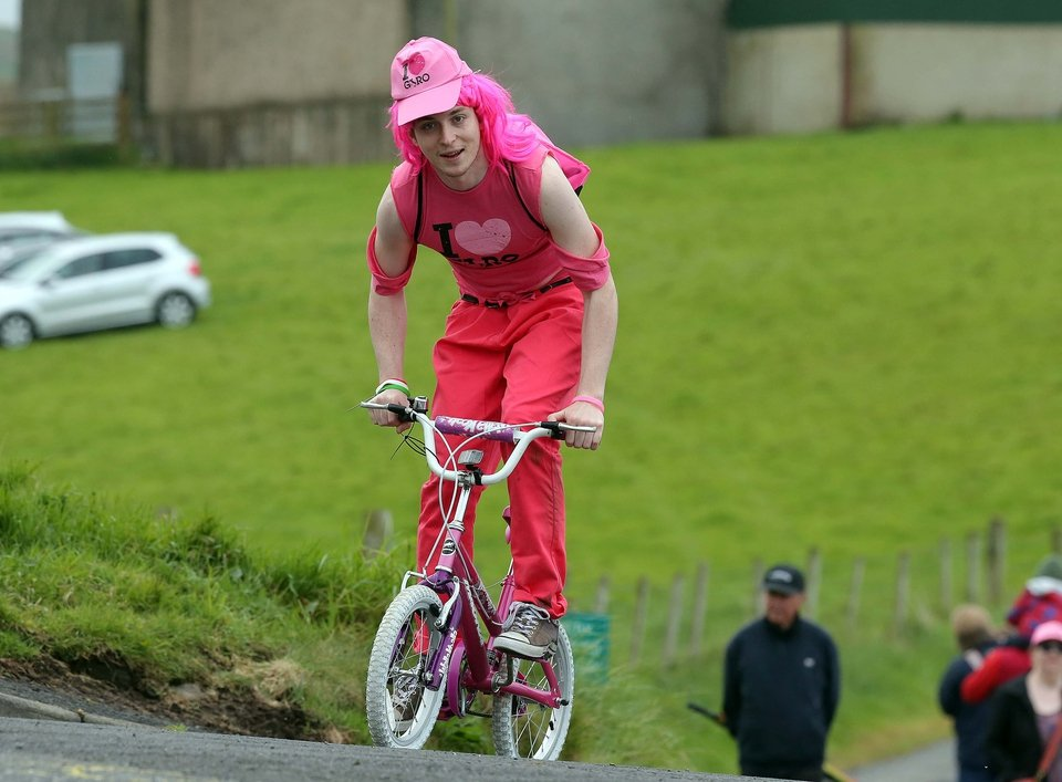 Philip Jackson from Dromore heads out on his stag do during the Giro d'Italia on Saturday