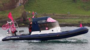 Giro watchers along the North Antrim Coast on Saturday during the Giro D'Italia