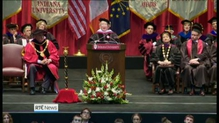 President Higgins receives US doctorate