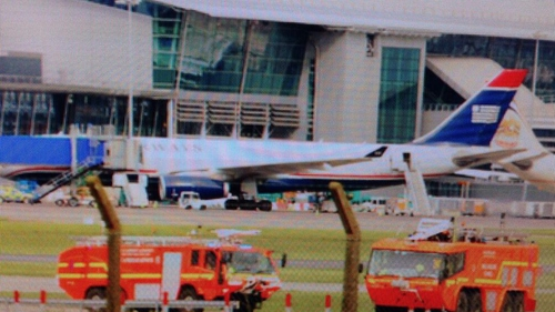 The plane was forced to land at Dublin airport at 3.15pm (Pic: KB photography @KBProductionsIR)