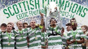 Celtic lifted the trophy for the third time in three years