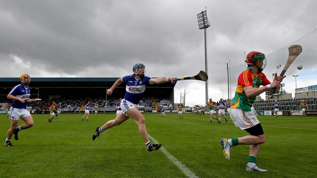 Laois led 0-14 to 0-08 at the interval