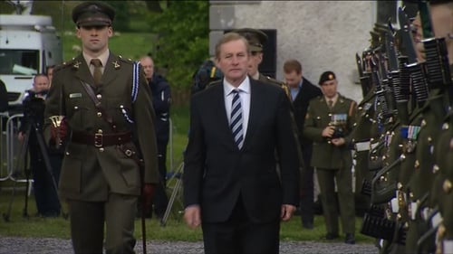 Enda Kenny inspected the Guard of Honour at Strokestown Park
