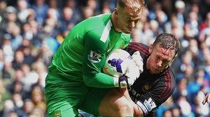 Joe Hart was on the bench for City's weekend win over Hull