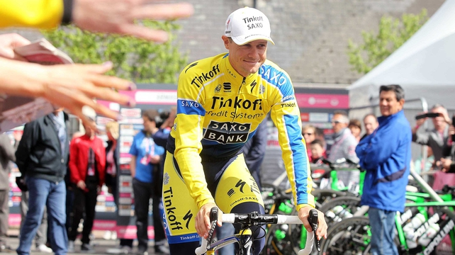 Nicolas Roche took stage-two win and overall leader's jersey