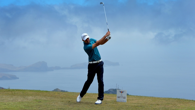 Eventual winner Daniel Brooks of England plays his tee shot on the fifth tee during the final round