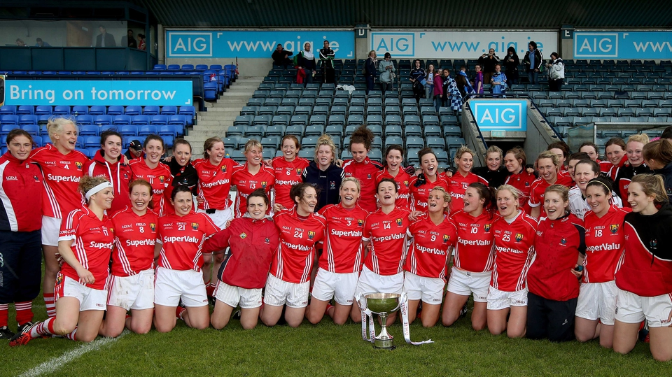 Cork celebrate their victory over Dublin