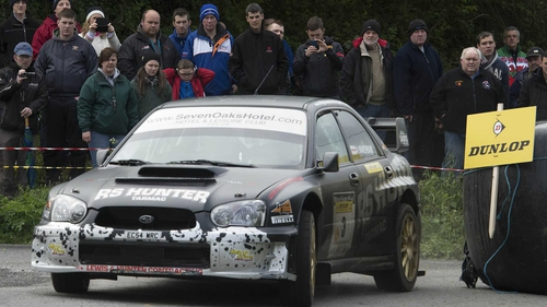 Hugh Hunter on his way to victory in Carlow