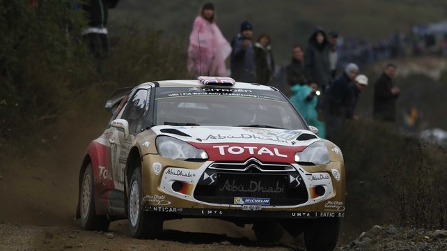 Kris Meeke's challenge in Germany ended in disaster