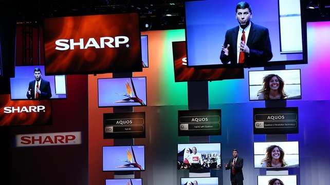 Sharp reported a 11.56 billion yen ($114m) net profit in the 12-month period