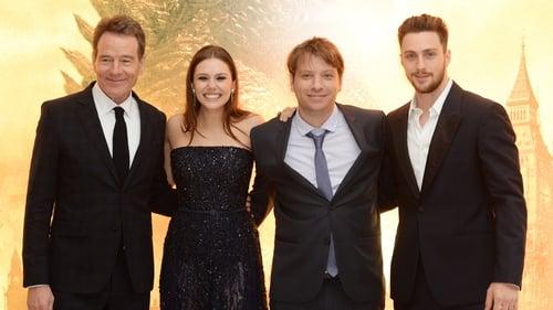 (L-R) Bryan Cranston, Elizabeth Olsen, Gareth Edwards and Aaron Taylor Johnson attend the European premiere of Godzilla