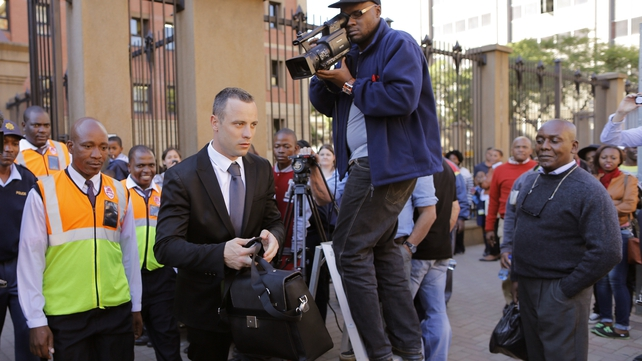 Mr Pistorius is on trial for murder after shooting and killing his girlfriend Reeva Steenkamp