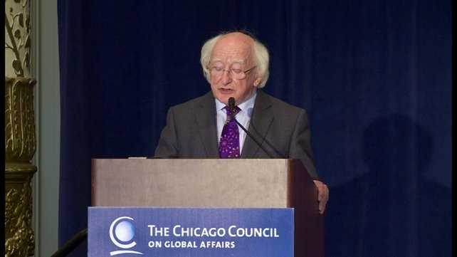 President Michael D Higgins spoke about economics, ethics and environmental responsibility