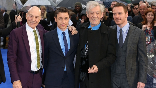 Patrick Stewart, James McAvoy, Ian McKellan and Michael Fassbender