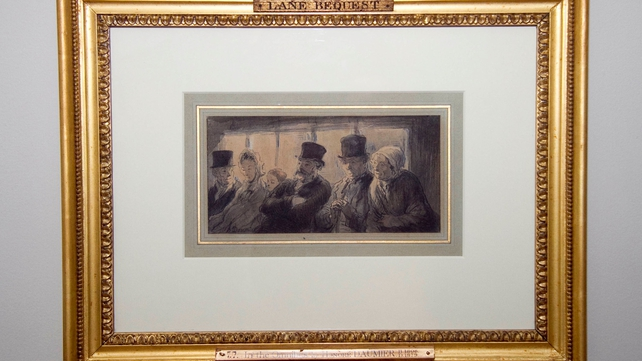 Honore Daumier's 'In The Omnibus' is back in the Hugh Lane Gallery