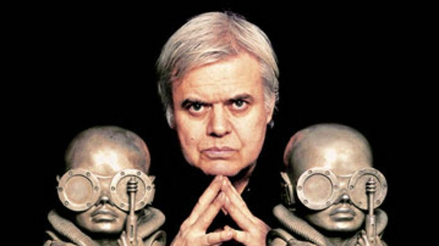 Giger with some of his creations