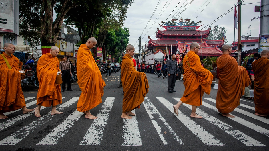 Indonesian Buddhists come together in Java to celebrate the Vesak holiday