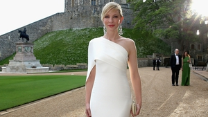 Cate Blanchett was a vision in a white, Grecian style dress