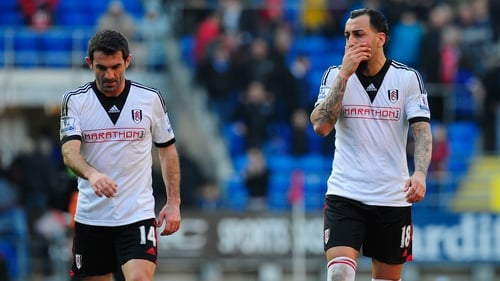 Fulham's Giorgos Karagounis (left ) and Konstantinos Mitroglou (right) are both in the Greece squad