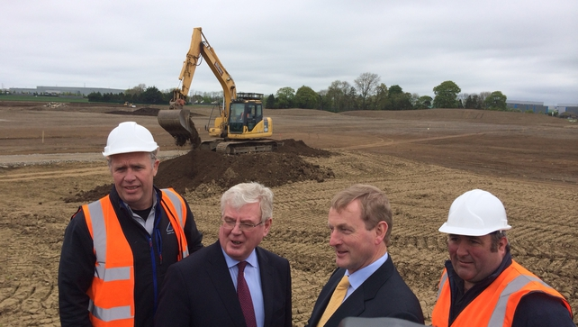 Enda Kenny (second from right) said the central aim of the strategy is to triple housing output by 2020