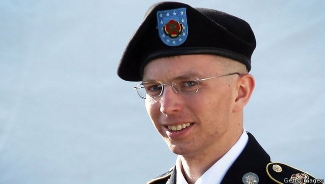 Pte Manning was sentenced to 35 years in prison for turning over secret files to WikiLeaks