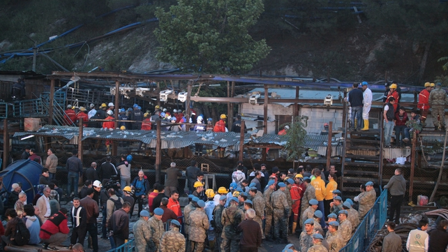 Dozens of workers are still believed to remain trapped in the mine