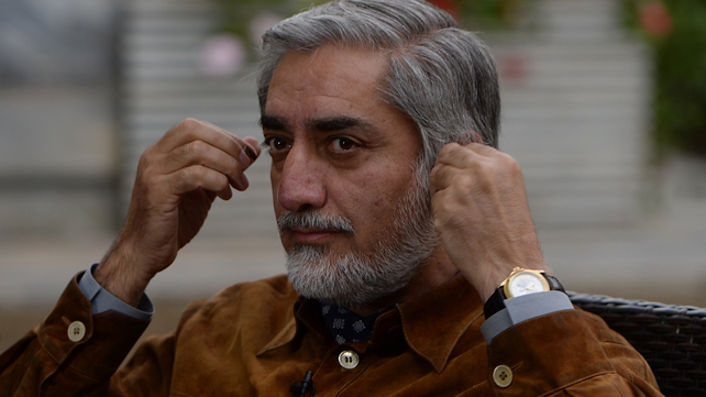 Abdullah Abdullah is ahead after the first round of voting