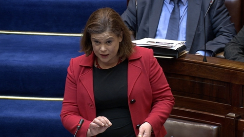 Mary Lou McDonald said she had anecdotal evidence that some alleged rapists were relocated