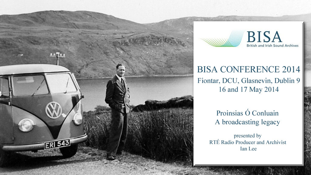 Proinsias Ó Conluain Exhibition for BISA Conference