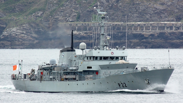 LÉ Aoife has resumed its operational patrol while further testing is carried out