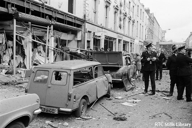 Talbot St, Dublin, after bombing, 1974
