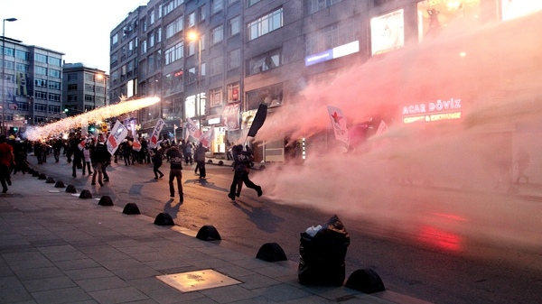 Protesters clashed with police in a number of Turkish cities