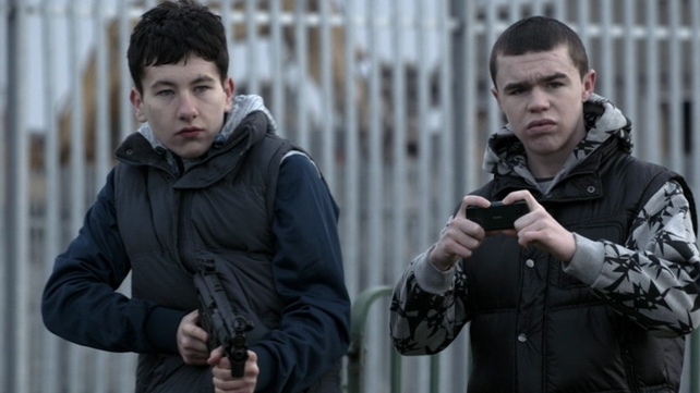 Leroy Harris (right) came to prominence for his role in the RTÉ drama series