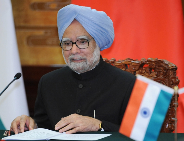 Outgoing Indian Prime Minister Singh