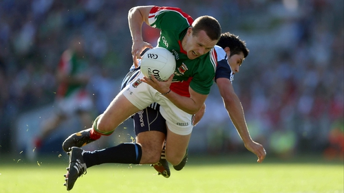 Andy Moran and Cian O'Sullivan tangle during last year's Croke Park clash