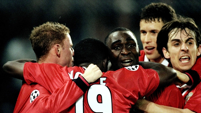 Andy Cole won the treble with Mancheste