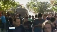 Turkish police use water cannon and tear gas on protesters
