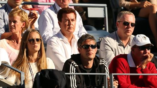 Simon Fuller (back row centre) owns XIX Entertainment